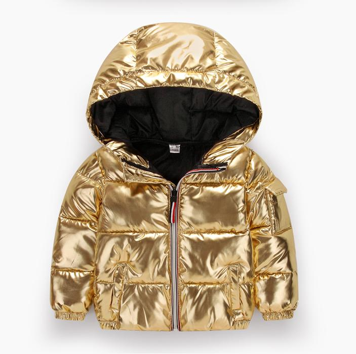 2018 New Baby Winter Warm Long Down Jacket Children Outerwear Russia Winter Jackets Coats Silver Space Snow Suit Kids Overcoat baby girls warm down jacket russia winter 25 degree boys rompers thicking suit hoodie children outerwear winter jackets coats