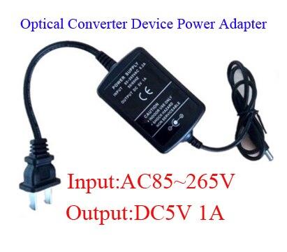 Wide Voltage AC 85-265V to DC5V 1A Power Converter Adapter 5V1A power supply for optical fiber media transmitter transceiver ac 85 265v dc 9 12v power supply adapter for 3 x3w led illuminated