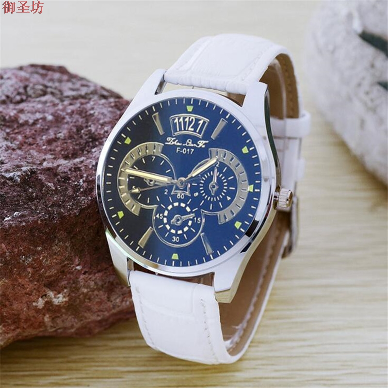 Sports Waterproof Leather Strap Men Quartz Watch Relojes Hombre 2017 Mens Watches Top Brand Luxury Montre Homme Clock Saat B275 high quality luxury brand men sports waterproof watches quartz hour clock men leather strap montre homme with auto date
