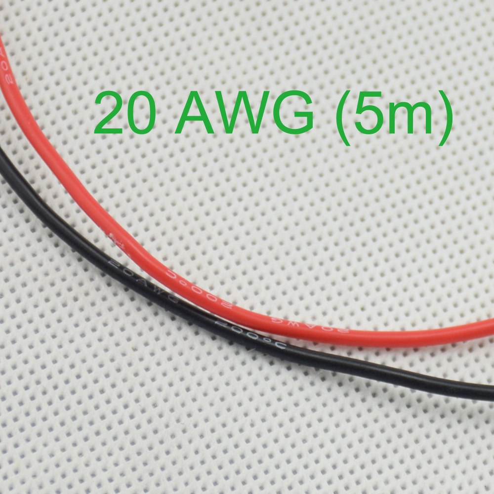 20 AWG (5 mt) Gauge Silikon Draht Verdrahtung Flexible Litze Kupfer ...