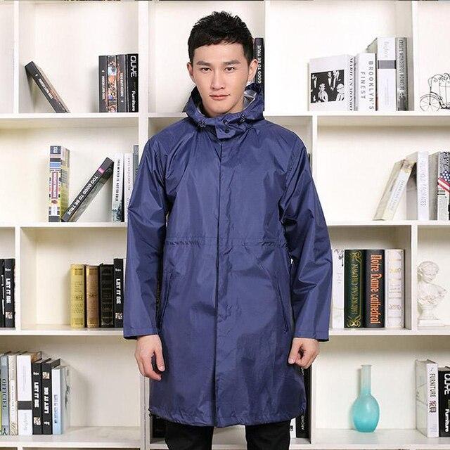 Impermeabile uomo 2018 moda abbigliamento da pioggia escursionismo adulto per una persona uomo per cappotto da pioggia moda giacca da pioggia nero elegante impermeabile uomo