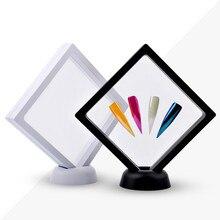 Nail Artwork Display Frame Panel Black White Square Transparent Color Plate
