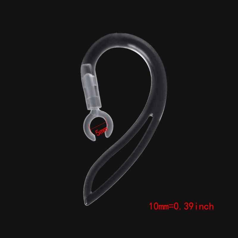 Auriculares Bluetooth de 5/6/7/8/10mm auriculares de silicona suave transparente con gancho para la oreja