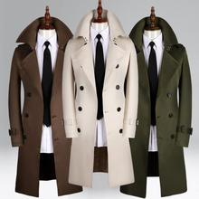 Mens trench coats man Medium length coat men clothes slim Business Casual overcoat long sleeve 2019 spring autumn new designer