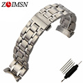 ZLIMSN Mens For T035 Solid Stainless Steel Watchbands Bracelet Watch Band Strap Buckle Watch 22mm 23mm 24mm relogio T035