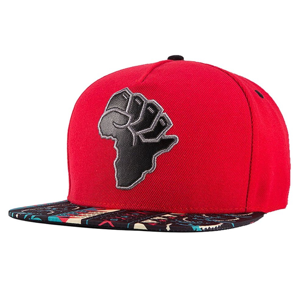 MYPF- Embroidery Snapback, Baseball Hat Flat Brim Hip Hop Caps, Red Map of Africa charmdemon 2016 embroidery cotton baseball cap boys girls snapback hip hop flat hat jy27