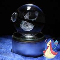 Cristal Bola Figura de Ação Pokemon Cristal Milotic Ir Bola Crianças Brinquedos para As Crianças Presentes de Natal Aniversário