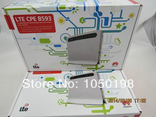 Huawei B593 (B593s-22) 4 Г LTE FDD 100 Мбит Разблокирована Мобильный Беспроводной Wi-Fi Маршрутизатор + пара B593 внешняя антенна