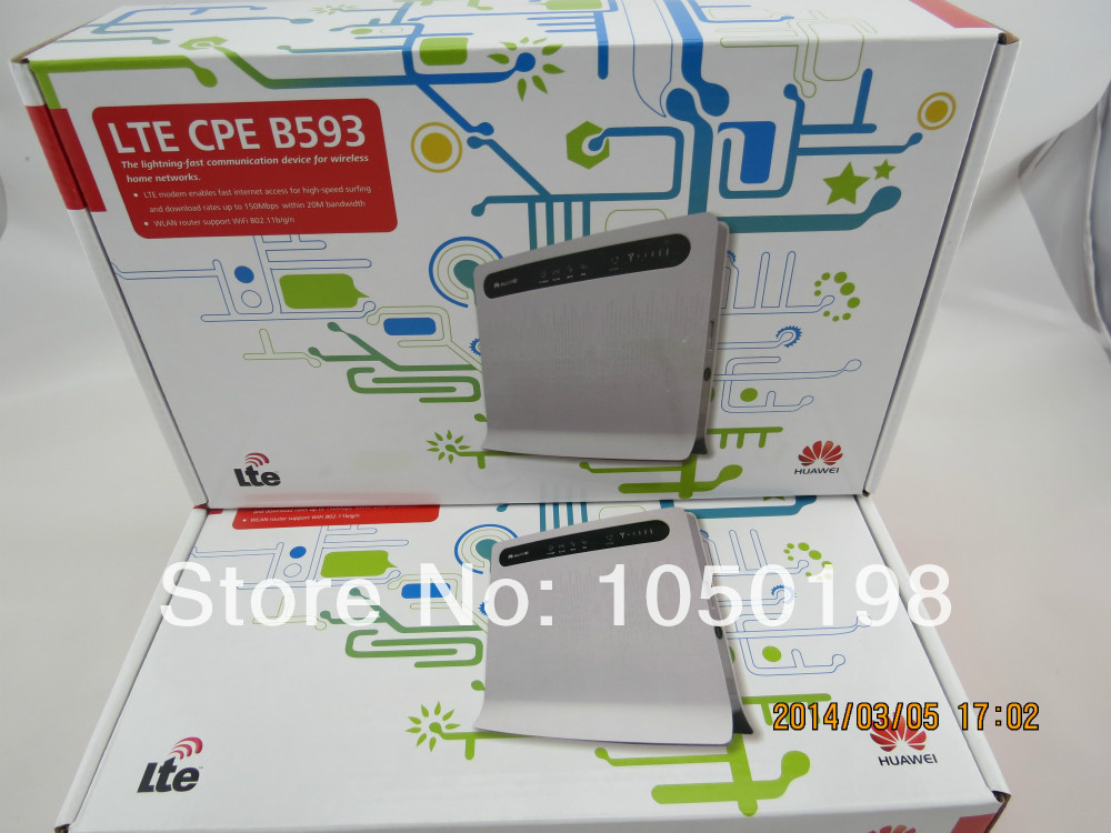 Huawei B593 (B593s-22) 4G LTE FDD 100Mbps Unlocked Mobile Wireless WiFi Router+ a pair of B593 external antenna