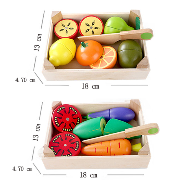 Wooden Fruit and Vegetable Toy