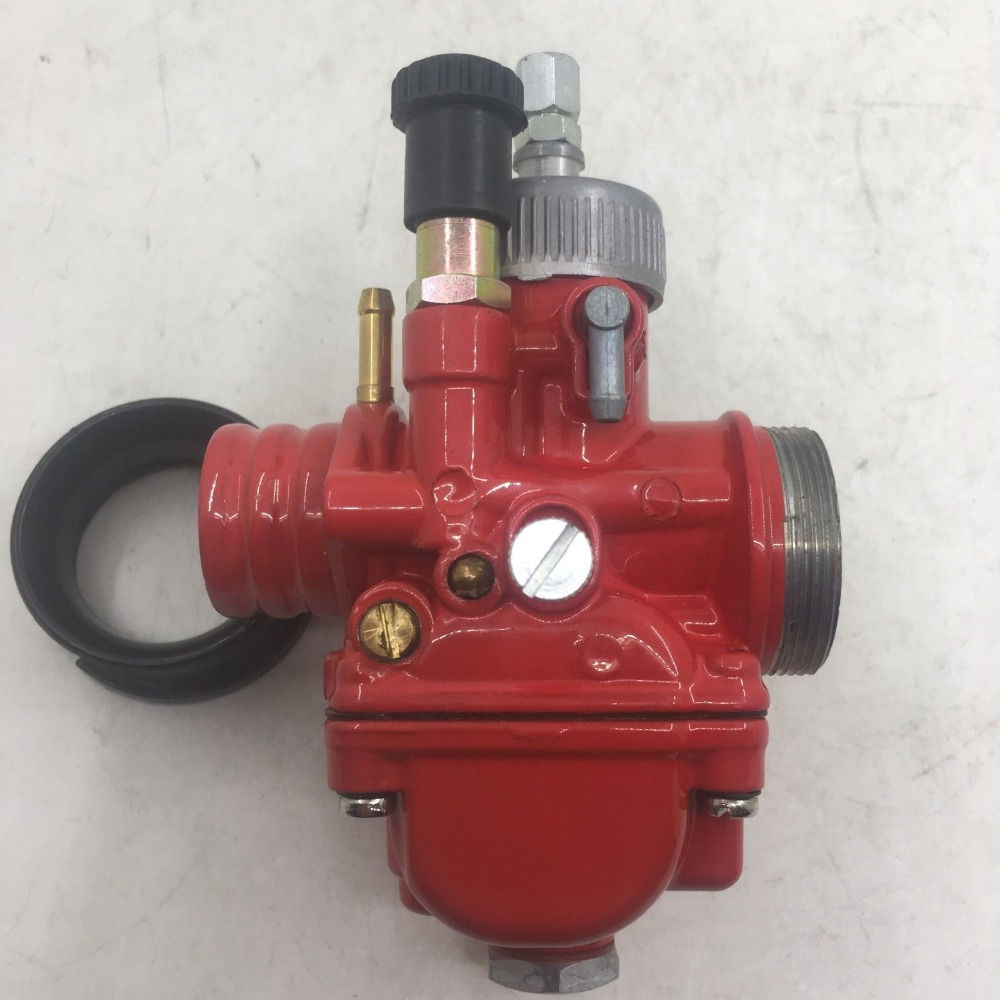 FREE SHIPPING RED Carburetor Carb Dellorto For MODEL PHBG DS 21mm Racing W Plastic Cover Manual Ch