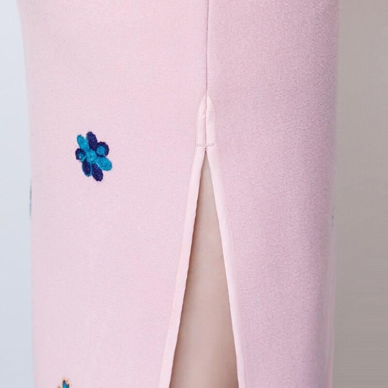 rose De Robe Light Mince Qipao Blue Cheongsam Printemps S Partie rouge Style Sexy Hiver Vintage Laine Chinois Noble Femmes Robes 3xl Bouton 2019 8qv1H1