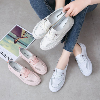 2019 summer new fashion women shoes casual high platform leather striped simple women casual white shoes sneakers