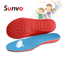 Sunvo Crianças Ortopédicos Arch Suporte Palmilhas de Espuma de Memória para Crianças Pé Plano Sapatos Ortopédicos Esporte Almofadas Inserções Palmilha Almofada
