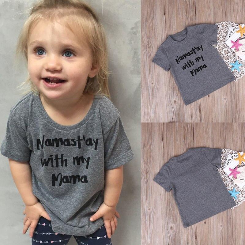 Cute Toddler Kids Baby Boy Girl Clothes Tops Cotton Short ...