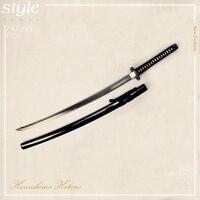 Free Shipping Hand Forged Folded Steel Japanese Black Blade Damascus Steel Samurai Sword Katana Sharp Edge Full Tang