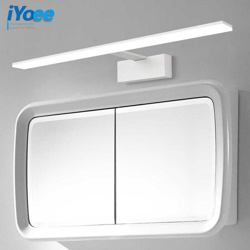 Nordic led badezimmer lampe schwarz & weiß spiegel licht acryl metall  leuchten barbershop hotel wc schrank wand lampe wand leuchte