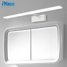 цена на Nordic led bathroom lamp black&white mirror light acrylic metal fixtures barbershop hotel toilet cabinet wall lamp wall sconce