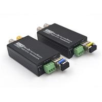 Mini HD SDI Fiber Optical Media Converters with SFP simplex LC Singlemode and Dry contact SDI signal over fiber 20Km