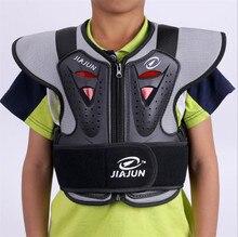 JIAJUN Bambini Armatura Armatura Del Motociclo VestsRiding Equipaggiamento Protettivo di Sicurezza di Sostegno per la Schiena Sci di Protezione Cura Petto Posteriore Per Il Capretto