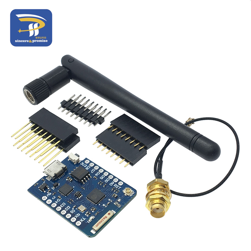 WEMOS D1 Mini Pro 16M Bytes External Antenna Connector NodeMCU Based ESP8266 ESP-8266EX CP2104 WIFI Development Board Micro USB