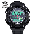 Big Watches for Men Dual Time Casual Watch Army Luxury Watches Men Gift LED Clock Brand Watch Digital relogios masculino WS1438