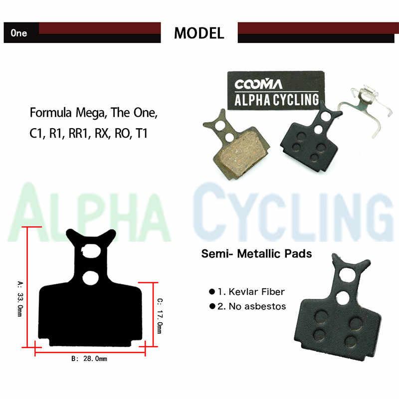 Alomejor 4 Pairs Bike Resin Brake Pads Bicycle Disc Brake Pads Kits Fit for Formula R1 R1R RO RX T1 Black