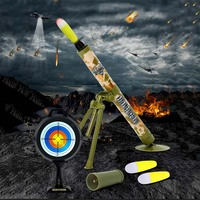 Super Mortar Mine Thrower Shell War Arms Mortar Luminescence Vocalization Military Toys Boy Game Camouflage Soft