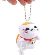 Anime Natsume Yuujinchou Nyanko Sensei Plush Toy Pendant 9cm new natsume yuujinchou nyanko sensei luminous cosplay backpack anime cat canvas student schoolbag unisex travel bags