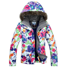 2016 Free shipping Russia -30 women Ski suit Winter Outdoor Ski Jacket women's Snowboard Skiing Waterproof Thermal Warm Jackets
