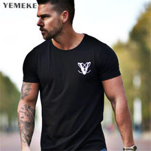 YEMEKE mens roupas de Marca Moda Muscle Bodybuilding da Aptidão t Camisa  Casual masculino de manga Curta Camiseta de Algodão Fin. c16fd9677ba