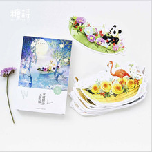 30pcs/lot New Boat/flower/animal design postcards Nice Stati