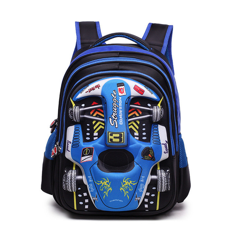 Children Cartoon 3D Car School bags boys girls Primary school Backpack kids Kindergarten backpack Schoolbags Mochila Infantil