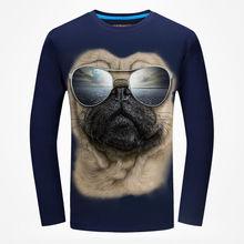 BB 03-04  Autumn T-shirt Men's 3D Character Cat Print Slim Rgular Csual Cotton Long Sleeve Men's T-shirt