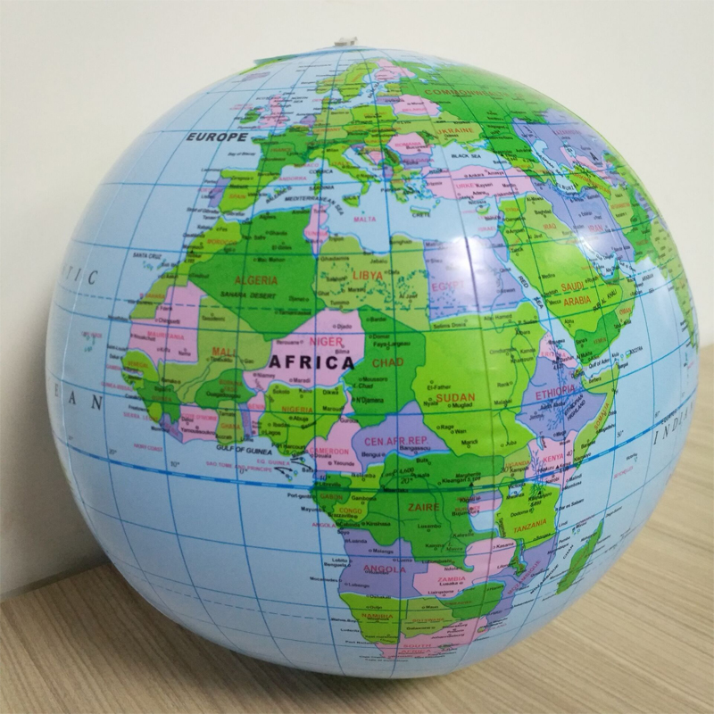 1pcs 40CM Inflatable World Globe Map Ball Squishy Toys Early Education Geography Toys Map Balloon Beach Ball Toy For Children