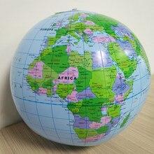 1 pçs 40cm inflável globo do mundo mapa bola brinquedos squishy educação precoce geografia brinquedos mapa balão de praia brinquedo bola para crianças