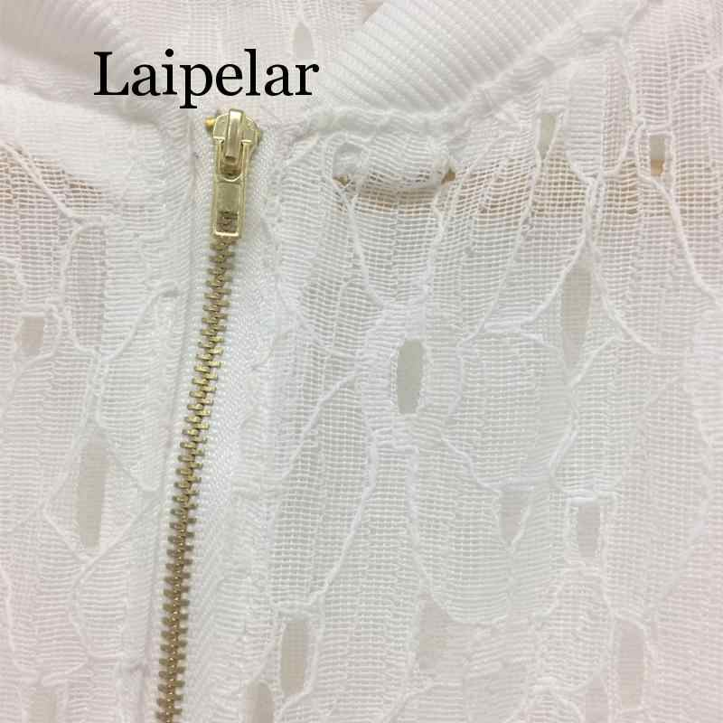 Женская летняя тонкая куртка кружевная с длинным рукавом для защиты от солнца Женская одежда открытая дышащая куртка-бомбер черный белый