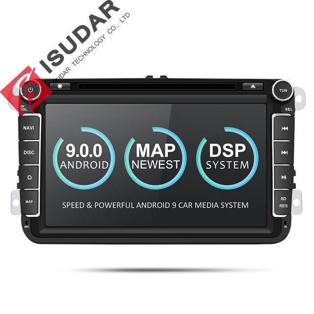 Isudar 2 喧騒車のマルチメディアプレーヤーアンドロイド 9 自動ラジオ/シート/フォルクスワーゲン/VW/パサート b7/ポロ/ゴルフ 5 6 DVD GPS 4 コア