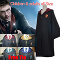 Harry potter cosplay disfraces adultos robe capa de gryffindor hogwarts magic academy partido del envío tie niños de halloween dress up disfraz