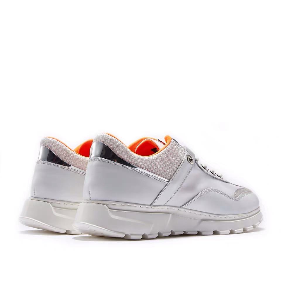 Delivr Wit Sneakers Mannen Unisex Dikke Zool Ademend Gevulkaniseerd Schoenen Masculino Adulto Papa Schoenen Hoge Platform Sneakers Mannen - 4