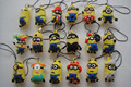 50pcs/lot pvc yellow minion action figures toy random mixed Juguetes Brinquedos Toys For Children