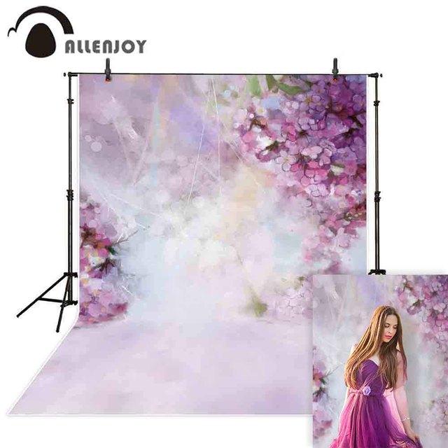 Allenjoy flower photography backdrop spring bokeh easter garden background photo studio photophone photobooth photocall fabric