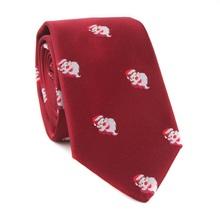Mantieqingway Brand Neck Ties for Mens Polyester Silk Jacquard Necktie Casual Business Animals Christmas Gifts