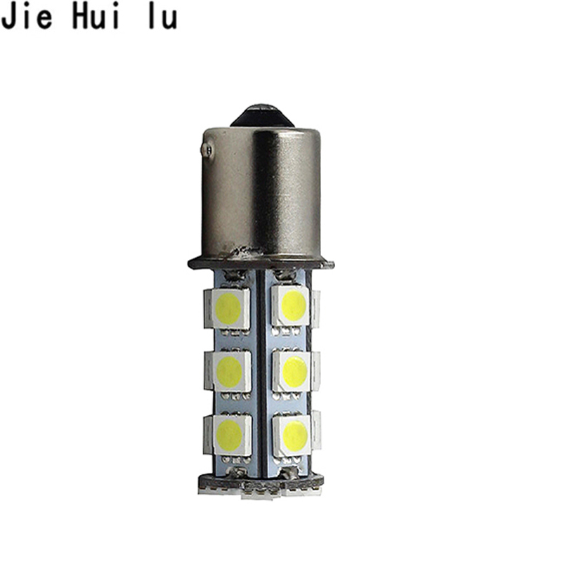 HotSale P21W 5050 SMD 1156 18 LED BA15s BAU15S 18smd 18led 18 SMD White Car Bulb Stop Tail Brake Light Rear Lamp DC 12V hngchoige 1156 ba15s p21w 13 led 5050 smd car tail brake signal light lamp bulb white