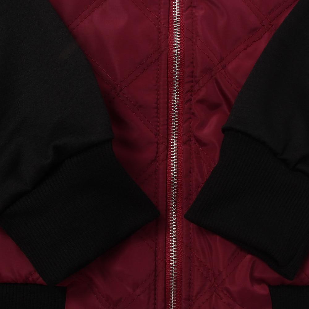 HTB1k6SRFDJYBeNjy1zeq6yhzVXaU Plus Size Autumn Winter Fashion Slim Women's Jacket Zipper Cardigan Splice Bomber Jackets 2019 Long Sleeve Bodycon Coats Female