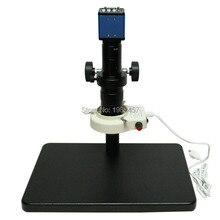 2.0MP 1/3 pulgadas Sensor digital industria cámara salidas VGA + 180X microscopio C-MOUNT Lente + anillo de Luz para La Industria de Laboratorio