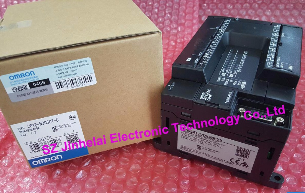 100% New and original  CP1E-N30SDT-D  OMRON PLC CONTROLLER new and original e3x da11 s omron optical fiber amplifier photoelectric switch 12 24vdc