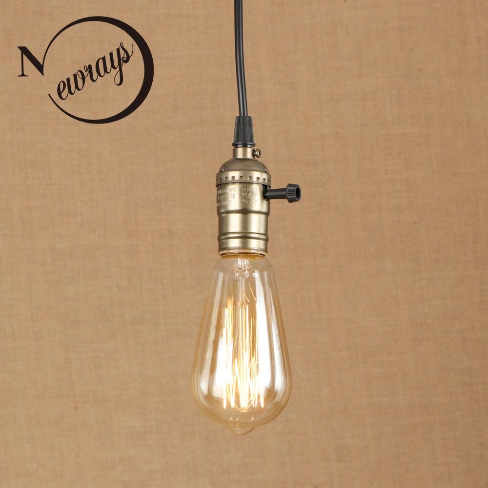 Vintage iron painted green bronze pendant lamp E27 220V LED 3styles hanging light fixture restaurant bedroom living room kitchen