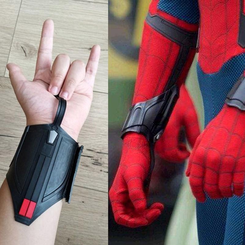 Superhero SpiderMan Web Shooter Cosplay Props Spider-Man: Homecoming Peter Parker Bracelet Women Men Cosplay Gifts