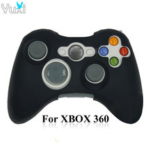 цена на YuXi Black Green Red Blue Silicone Cover Case Protection Sleeve for Xbox 360 Game Controller Rubber Skin.